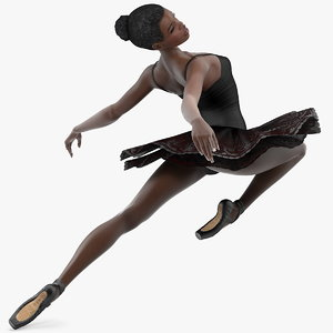 dark skinned black ballerina 3D model