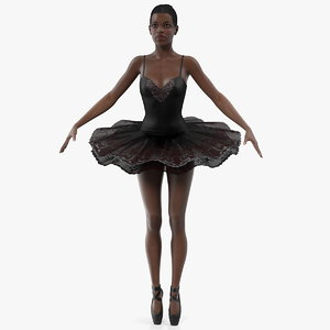 dark skinned black ballerina model