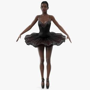 dark skinned black ballerina model