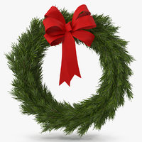 Christmas Wreath with Red Bow 4