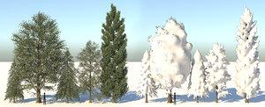 realistic seasonal tree leaves 3D