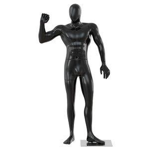 black male mannequin 3D model