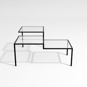 3D model 7400 mm table