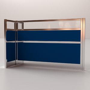 3D cubicle partition model