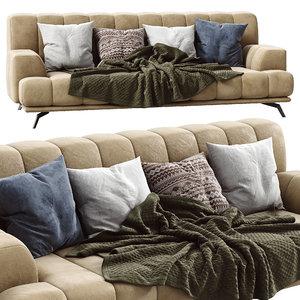 3D chloe leather sofa