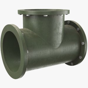 real t pipe 3D model