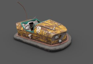 abandoned pripyat bumper car-dodgem 3D model