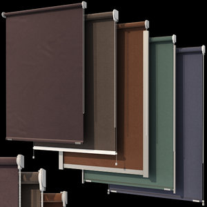 roller blinds set windows model