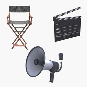 movie directors chair 3D