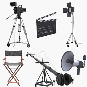 movie directors camera light 3D model