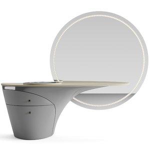 3D model unit mirror