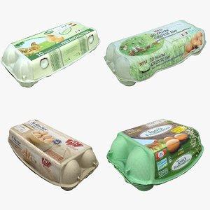 3D egg carton model