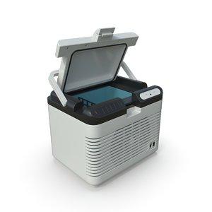 3D car refrigerator model