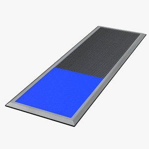 3D model cleanroom sticky mats cleaning
