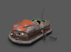 3D abandoned pripyat bumper car