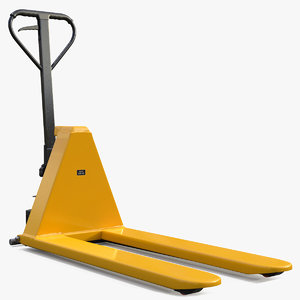 3D scissor lifting pallet truck model