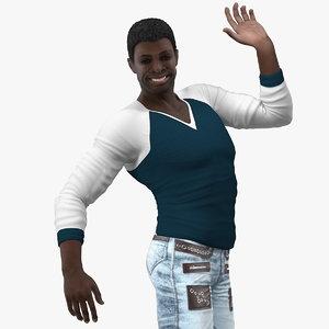 afro american man city 3D