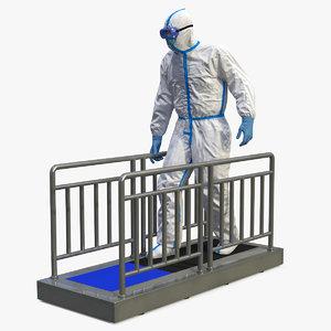 3D disposable protective suit sole model