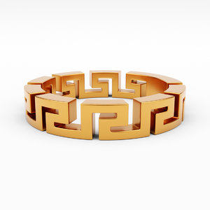 greca ring 3D model