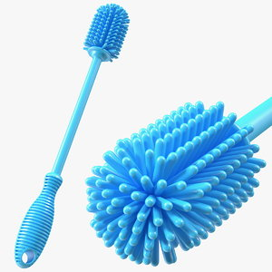 3D silicone bottle brush