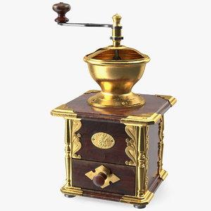 3D vintage manual coffee grinder