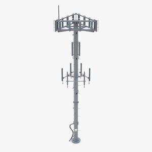 3D telecommunication tower communication model