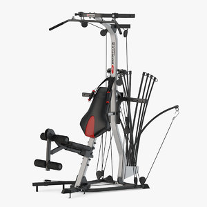 3D model gym bowflex home
