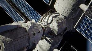 3D docking spaceship blender space