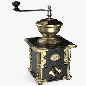 3D antique manual coffee grinder