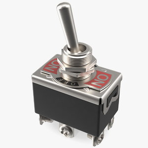 3D heavy duty dpdt toggle switch model