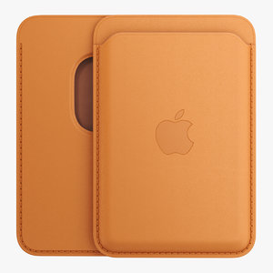 iphone leather wallet magsafe 3D
