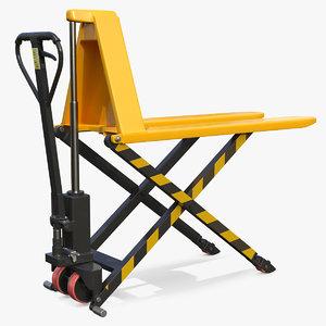 3D model scissor lifting pallet truck