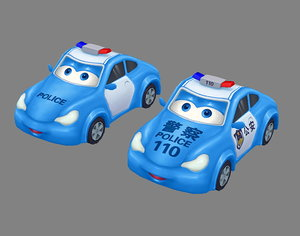 policecar car 3D model