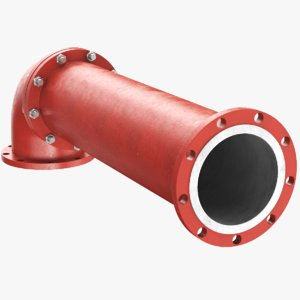 3D real industrial pipe model