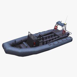 inflatable patrol boat 3D model