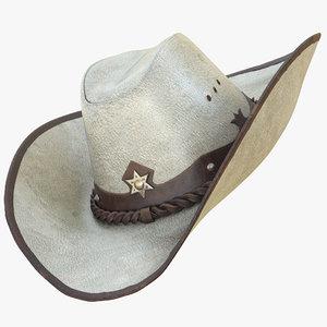 3D realistic cowboy hat pbr