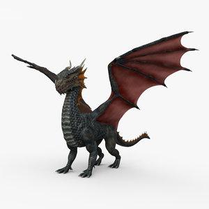 3D european dragon