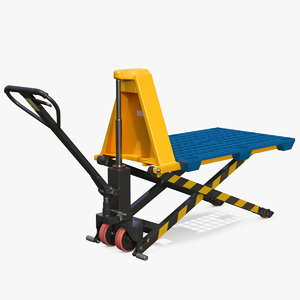 scissor pallet truck plastic 3D model