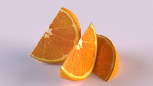 3D citrus orange fruit food