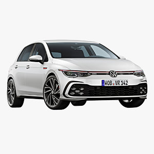 3D model 2021 volkswagen golf gti