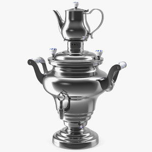 electric russian samovar kettle 3D model