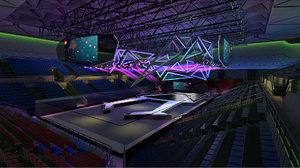3D model event stadium