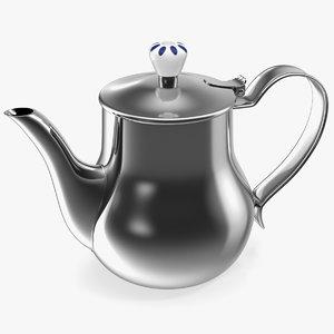 3D model stainless steel teapot