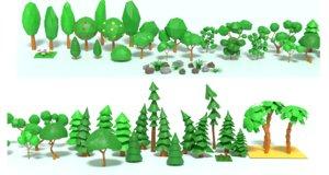 coniferous trees 3D model