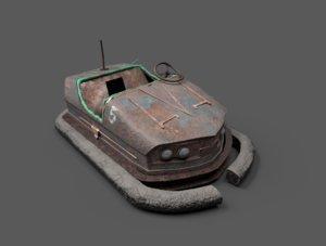 abandoned pripyat bumper car-dodgem model
