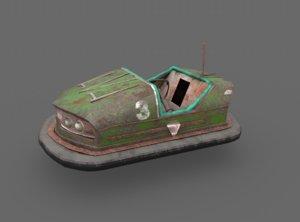 3D model abandoned pripyat bumper car-dodgem