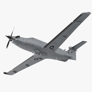 3D pilatus u 28a usaf model
