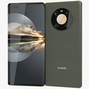 realistic huawei mate 40 3D