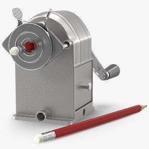 3D manual pencil sharpener