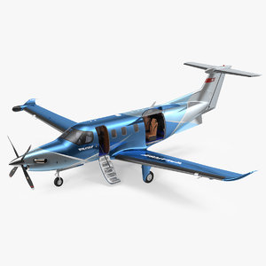3D model pilatus pc12 ngx business